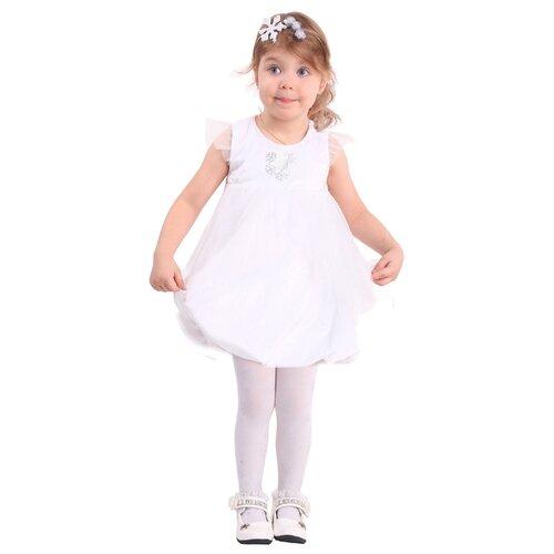 Купить Костюм пуговка Снежинка (918 к-17), белый/серебристый, размер 104, Карнавальные костюмы