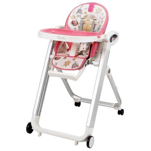 Купить Стульчик для кормления Nuovita Futuro Bianco (Cosmo rosa/Розовый космос), Стульчики для кормления