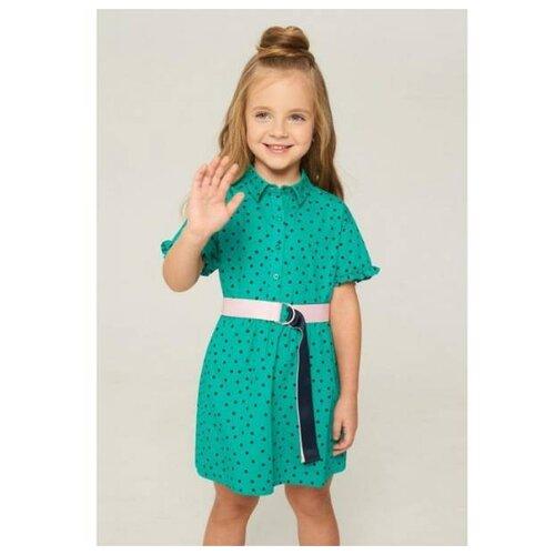 Купить Платье INFUNT размер 110, зелeный, Платья и сарафаны