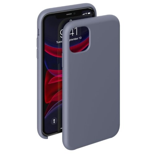 Чехол-накладка Deppa Liquid Silicone Case для Apple iPhone 11 Pro Max серо-лавандовый чехол deppa liquid silicone case для apple iphone 11 pro max лавандовый картон 87312