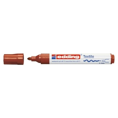 Edding Маркер 2 - 3 мм, 1 шт. (4500) коричневый кедр электрод вольфрамовый wl 20 175 10 шт 3 2 мм синий ac dc 7340006