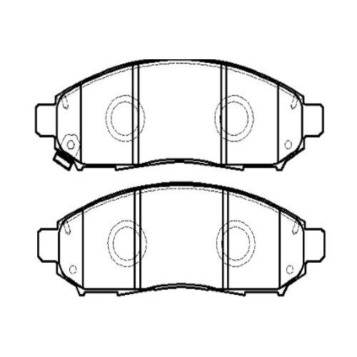 Дисковые тормозные колодки передние HONG SUNG BRAKE HP5173 для Nissan Serena (4 шт.) дисковые тормозные колодки передние hong sung brake hp8153 для honda civic 4 шт