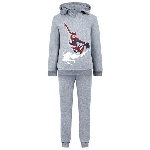 Купить Спортивный костюм Il Gufo размер 140, серый, Спортивные костюмы