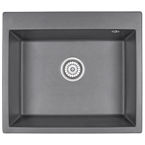 Фото - Врезная кухонная мойка 60 см Granula 6001 графит врезная кухонная мойка 60 5 см granmill 024 24чер черный