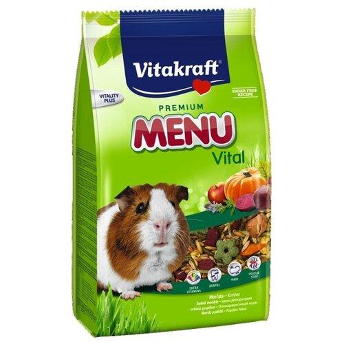 Корм для морских свинок Vitakraft Premium Menu Vital 1 кг vitakraft vitakraft menu корм для средних попугаев 1 кг