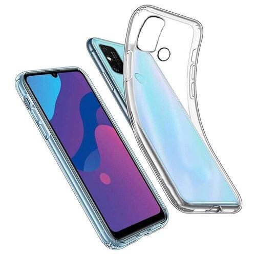 Прозрачный силиконовый чехол для Huawei Honor 9A и Play 9A/ Прозрачный чехол на Хуавей Хонор 9А и Плей 9А / Ультратонкий Premium силикон с протекцией от прилипания