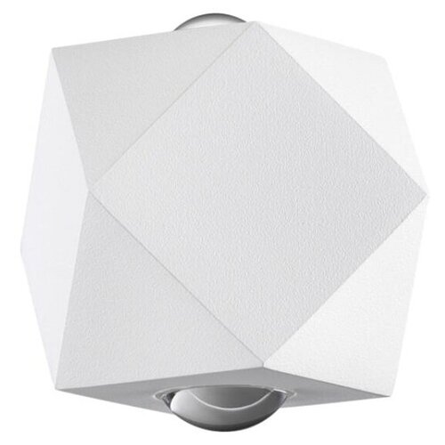 Odeon Light Уличный настенный светильник Diamanta 4219/4WL, 4 Вт, цвет арматуры: белый настенный светильник odeon light diamanta 4220 4wl