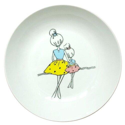 Фото - Сотвори Чудо Тарелка глубокая Мама Sans Brides 20 см белый/желтый/голубой тарелка сотвори чудо линия 20 см белый