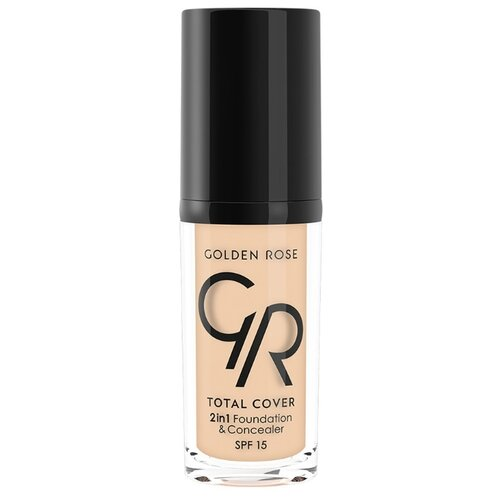 Golden Rose Тональный крем Total Cover 2in1 Foundation & Concealer, 30 мл, оттенок: 01-Porcelain