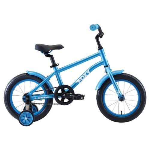 Детский велосипед STARK Foxy 14 Boy (2020) голубой/белый (требует финальной сборки)