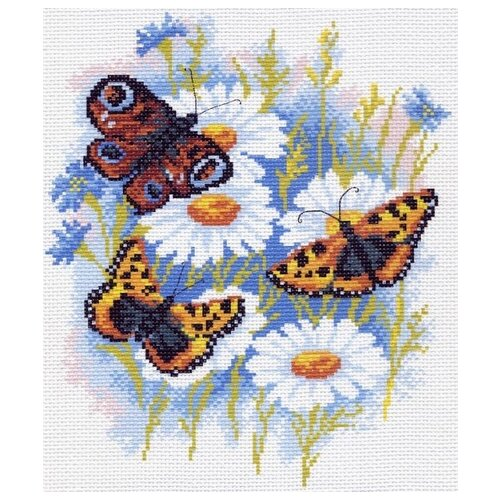 Купить Бабочки на ромашках Рисунок на канве 28/37 28х37 (20х25) Матренин Посад 0624-1, Матрёнин Посад, Канва