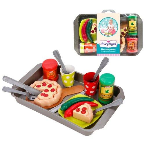 цена Набор продуктов с посудой Mary Poppins Итальянская пиццерия 453140 в ассортименте онлайн в 2017 году