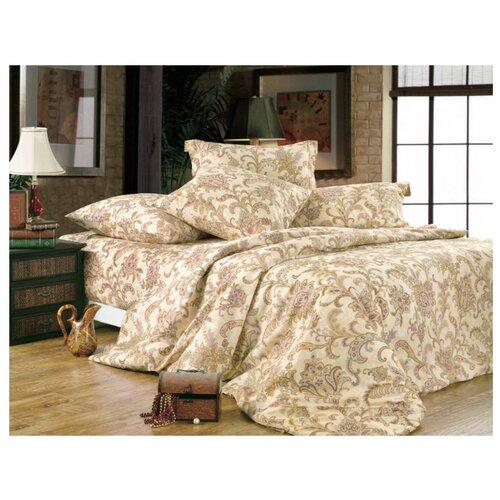 Постельное белье 2-спальное СайлиД A-120, поплин бежевый постельное белье сирень постельное белье 2 спальное кпб сайлид