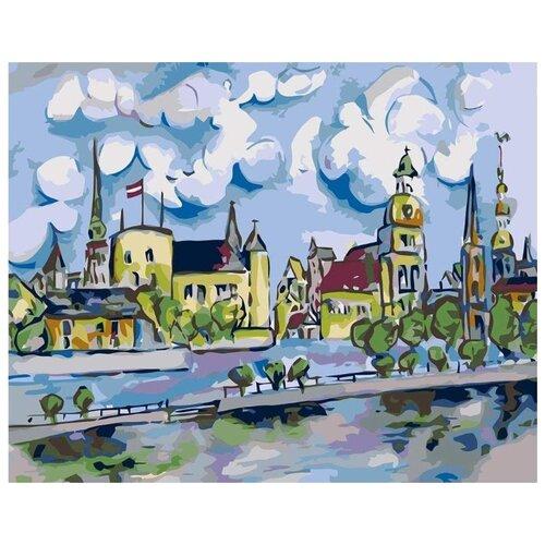 Картина по номерам Живопись по Номерам Австрийский городок , 40x50 см, Живопись по номерам, Картины по номерам и контурам  - купить со скидкой
