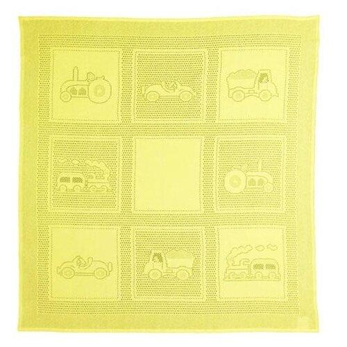 Купить Плед MYB Car Squares 97х107 см в подарочной упаковке желтый, Покрывала, подушки, одеяла