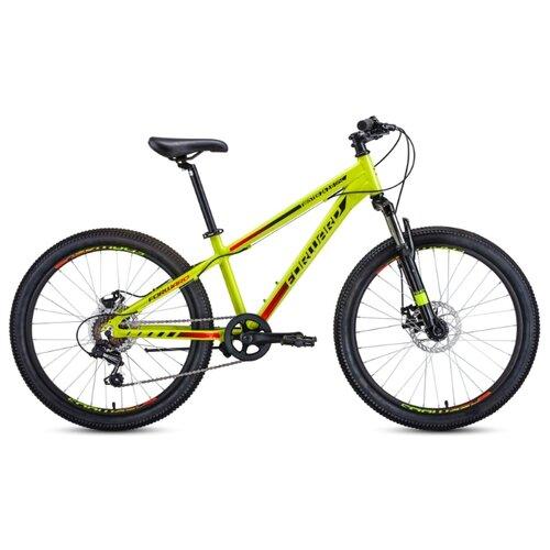 Подростковый горный (MTB) велосипед FORWARD Twister 24 2.0 Disc (2020) желтый/черный 13
