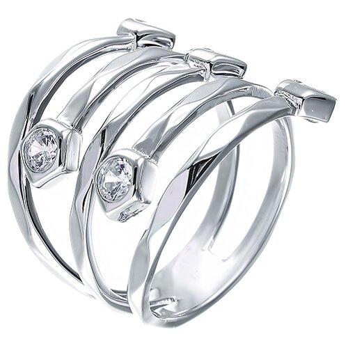 ELEMENT47 Кольцо из серебра 925 пробы с фианитами R26206-W-KO-001-WG, размер 17.5