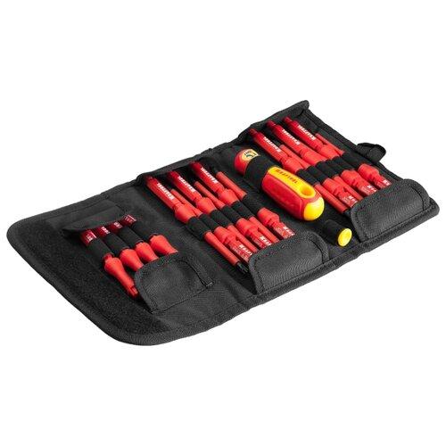 Фото - Набор отверток Kraftool (18 предм.) 220092-H18 желтый/красный набор отверток и инструментов kraftool x drive electro высоковольтных до 1000 в 18 предметов 220092 h18