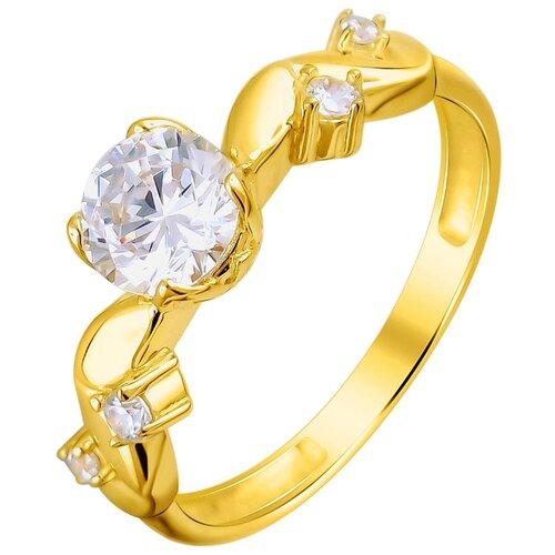 Эстет Кольцо с 5 фианитами из жёлтого золота 01К1311981, размер 19