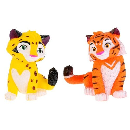 Фото - Набор для ванной Играем вместе Лео и Тиг (ST-FT1810-11) желтый/оранжевый/белый набор для ванной играем вместе котенок гав и щенок 136r pvc белый оранжевый