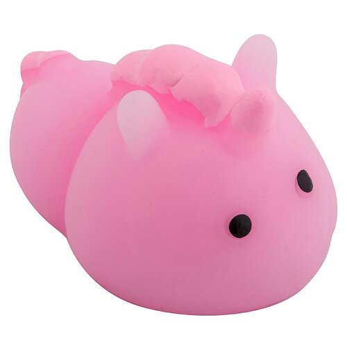 Игрушка-мялка Эврика Единорог розовый
