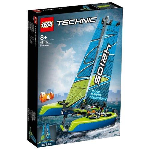 Конструктор LEGO Technic 42105 Катамаран lego конструктор lego technic 42080 лесозаготовительная машина