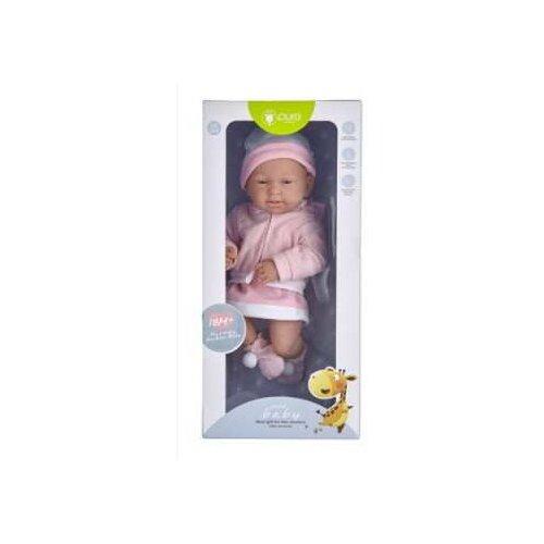 Купить Пупс Junfa Toys Pure Baby в розовом комбинезоне, 35 см, WJ-B9971, Куклы и пупсы