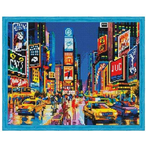 Купить Алмазная вышивка Цветной Нью-Йорк в огнях рекламы , 50x40