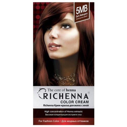 Richenna Крем-краска для волос с хной, 5MB dark mahogany
