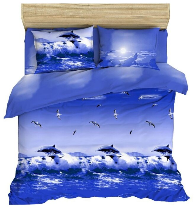 Постельное белье 1.5-спальное Василиса Океан, бязь