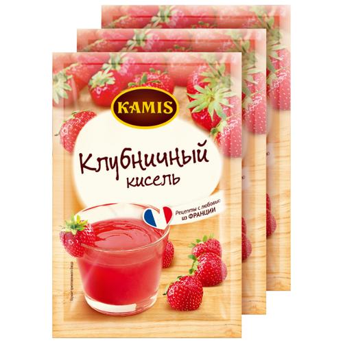 Кисель KAMIS Кисель моментального приготовления Клубничный 3 шт. по 30 г