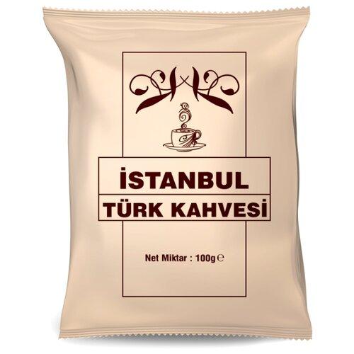 Кофе молотый İstanbul Türk Kahvesi, мягкая упаковка, 100 г кофе молотый i̇stanbul türk kahvesi c ароматом карамели жестяная банка 250 г