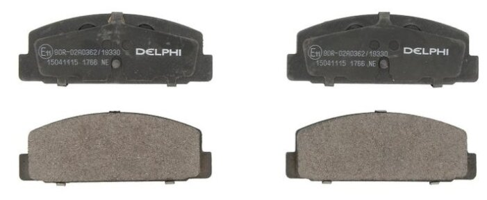 Дисковые тормозные колодки задние DELPHI LP1766 для Mazda (4 шт.)