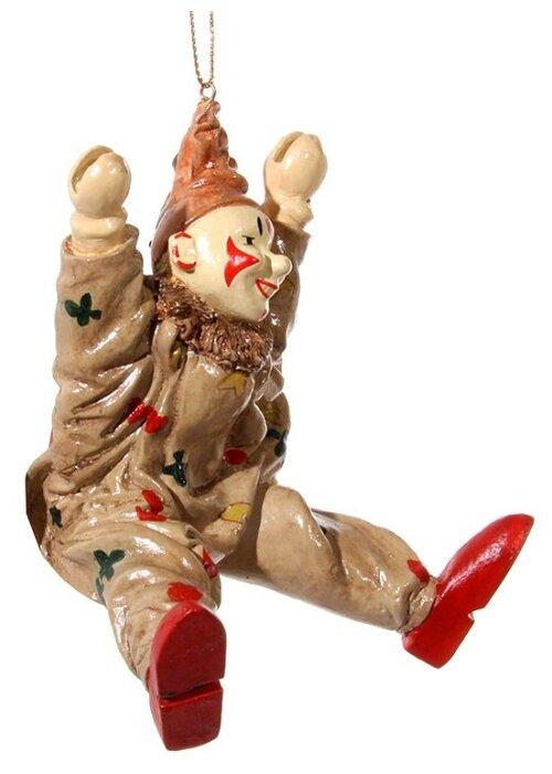 SHISHI, Ёлочная игрушка клоун, полистоун, 10 см 46364