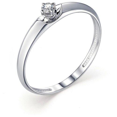 АЛЬКОР Кольцо с 1 бриллиантом из белого золота 13253-200, размер 17 алькор кольцо с 1 бриллиантом из белого золота 12869 200 размер 17 5