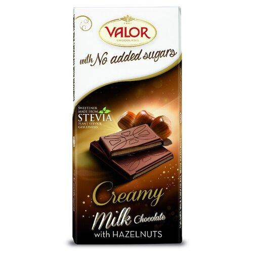 Шоколад Valor молочный без сахара с ореховой начинкой, 100 г туфли valor wolf valor wolf va090amfcku8