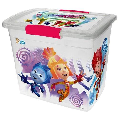 Купить Ящик детский с крышкой на защелках ФИКСИКИ, 20л Little Angel, Хранение игрушек
