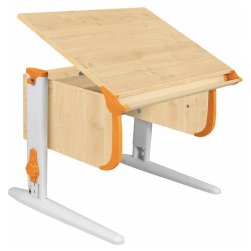 Купить Стол ДЭМИ СУТ-24 75x55 см клен/оранжевый/белый, Парты и столы