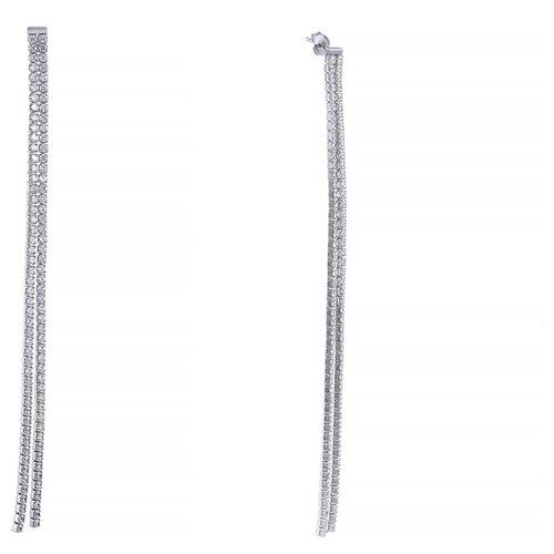 Фото - JV Серебряные серьги с кубическим цирконием E7558-SR-001-WG jv серебряные серьги с кубическим цирконием ss b0858ec sr 001 wg