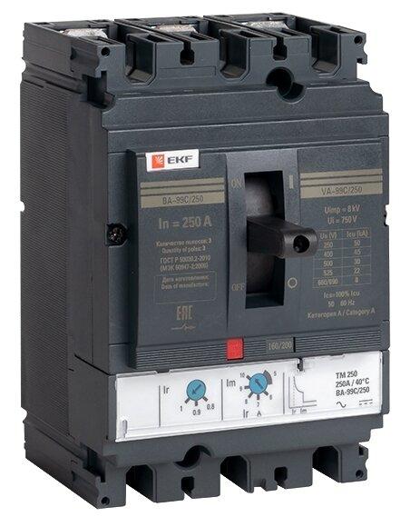 Автоматический выключатель EKF ВА-99C/250 3P (термомагнитный) 45kA