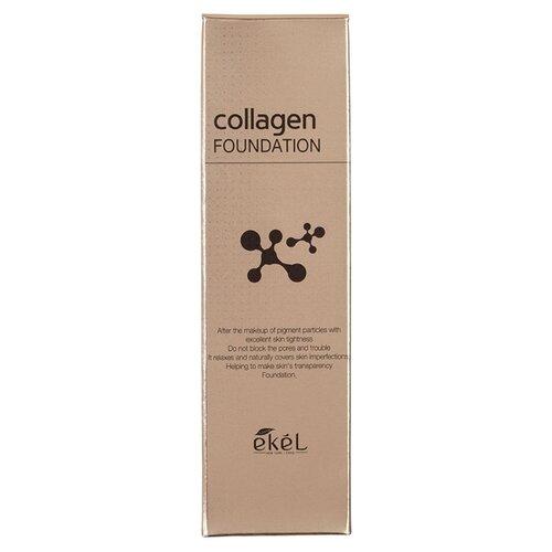 Фото - Ekel Тональный крем Collagen Foundation, 50 мл, оттенок: #21 Light Beige divage тональный крем foundation luminous 25 мл оттенок 01