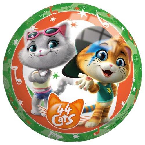 Мяч John 44 котенка, 23 см, зеленый/оранжевый, Мячи и прыгуны  - купить со скидкой