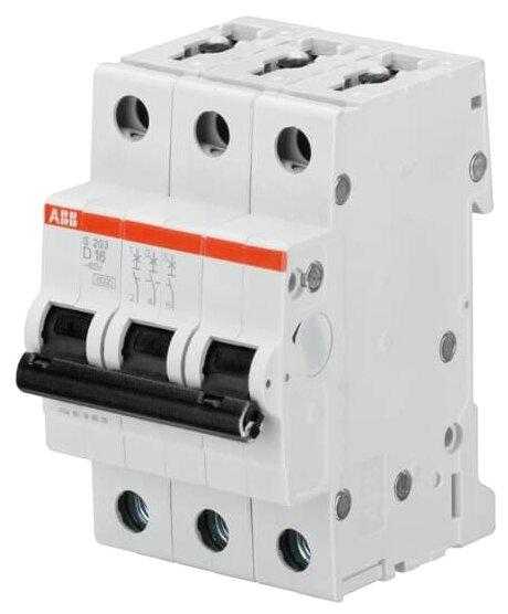 Автоматический выключатель ABB S203 3P (D) 6kA