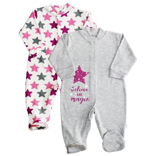 Купить Комбинезон Веселый Малыш размер 86, серый / розовый, Комбинезоны
