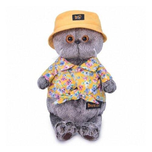 Купить Мягкая игрушка Basik&Co Кот Басик в панаме 25 см, Мягкие игрушки
