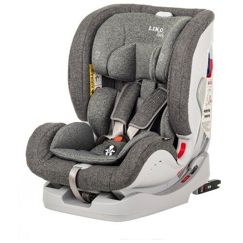Купить Автокресло группа 0/1/2/3 (до 36 кг) Liko Baby Sprinter Isofit (Isofix), серый/лен, Автокресла