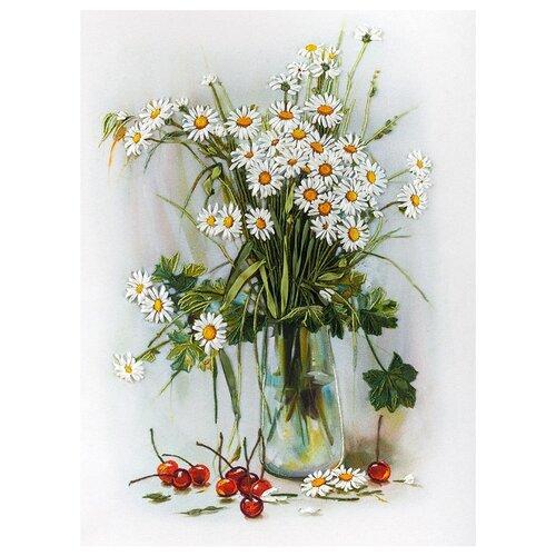 Купить PANNA Набор для вышивания Живая картина Ромашки и вишни 21, 5 х 30 см (ЖК-2036), Наборы для вышивания