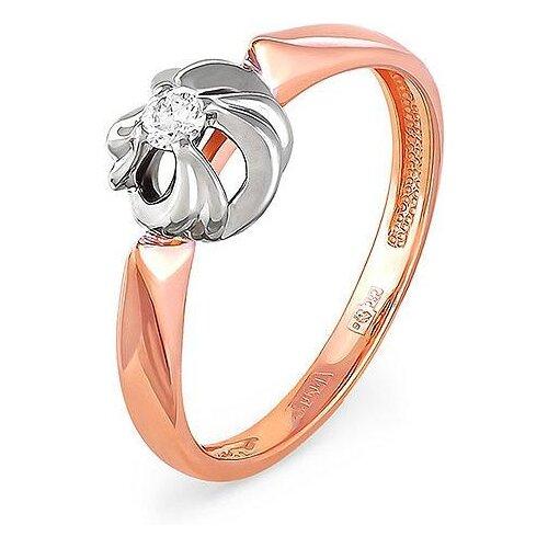 KABAROVSKY Кольцо с 1 бриллиантом из красного золота 11-0789-1000, размер 16 kabarovsky кольцо с 1 бриллиантом из красного золота 1 0336 1000 размер 16 5