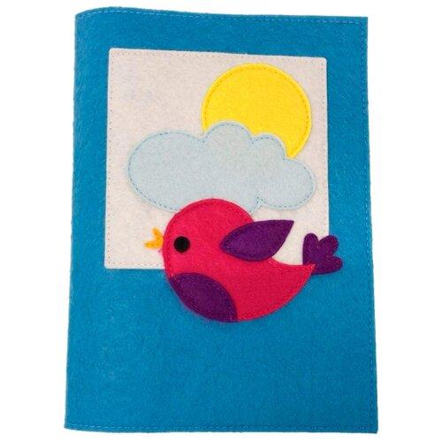 Santa Lucia Обложка на книгу Воробей синий/белый/красныйОбложки<br>
