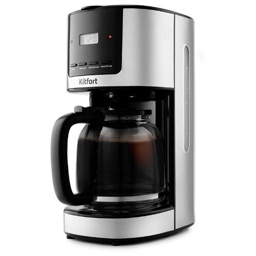 Кофеварка Kitfort КТ-735 черный/серебристый